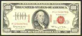 1966 $100 Specimen United States Note